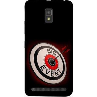 FUSON Designer Back Case Cover For Lenovo A6600 (Big Event Bulls Eye Arrow Target Sign Bang On)