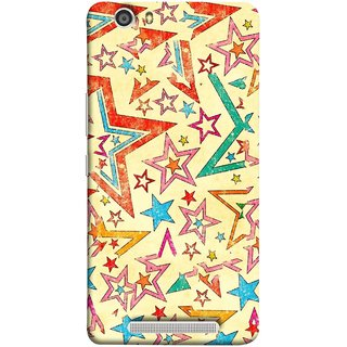 FUSON Designer Back Case Cover For Gionee Marathon M5 Lite (Vector Abstract Background Of Colorful 3D Stars)
