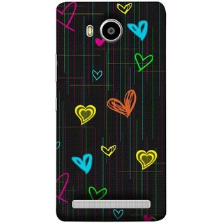 FUSON Designer Back Case Cover For Lenovo A7700 (Multicolour Hearts Shapes Shining Shapes Loopable)