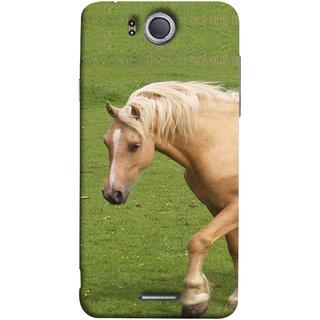 FUSON Designer Back Case Cover For InFocus M530 (White Horse In The Park On The Green Grass)