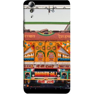 FUSON Designer Back Case Cover For Lenovo A6000 :: Lenovo A6000 Plus :: Lenovo A6000+ (Decorated Goods Carrier On Indian Road Stop Dil Tera)