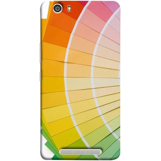 FUSON Designer Back Case Cover For Gionee Marathon M5 Lite (Papers Sheets White Circle Round Beautiful Lining )
