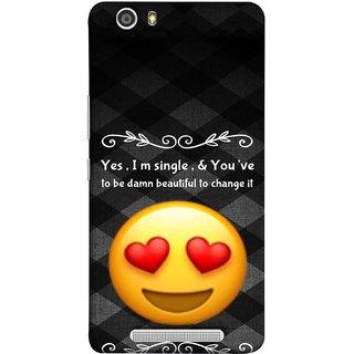 FUSON Designer Back Case Cover For Gionee Marathon M5 Lite (Damn Beautiful To Change It Hearts Love Pure Smiley)