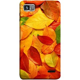 FUSON Designer Back Case Cover For Lenovo K860 :: Lenovo IdeaPhone K860 (Multicolour Dry Leaves Painting Bright Sunny Day )