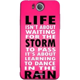 FUSON Designer Back Case Cover For InFocus M530 (To Pass Its About Learning To Dance In Rain Life)
