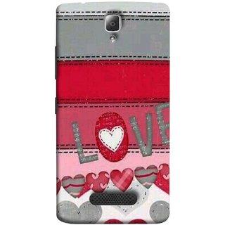 FUSON Designer Back Case Cover For Lenovo A2010 (Love Birds Couples Forever Full Of Love Pyar Valentine)