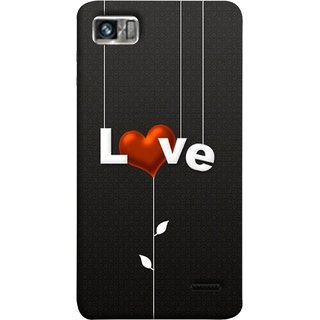 FUSON Designer Back Case Cover For Lenovo K860 :: Lenovo IdeaPhone K860 (Red Hearts Hanging Ropes Free Love Tree Multicolour)