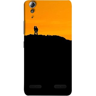 FUSON Designer Back Case Cover For Lenovo A6000 :: Lenovo A6000 Plus :: Lenovo A6000+ (Friends Family Lovers Lovebirds Standing Rocks Evening)