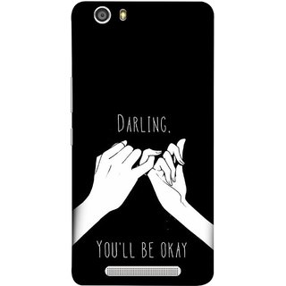 FUSON Designer Back Case Cover For Gionee Marathon M5 Lite (My Love All Will Be Fine Just Relaxed Holding Hand)