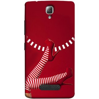 FUSON Designer Back Case Cover For Lenovo A2010 (High Heel Red And White Socks Beautiful Legs Girl)