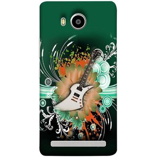 FUSON Designer Back Case Cover For Lenovo A7700 (Blue Backgound Florence Painting Wall Art Sticker)