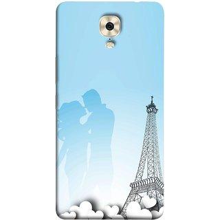 FUSON Designer Back Case Cover For Gionee M6 (Eiffel Tower True Love Couples Kisses Sky )