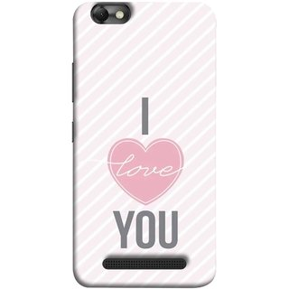 FUSON Designer Back Case Cover For Lenovo Vibe C :: Lenovo A2020 (Just Pinky Say Always I Love You Red Hearts Couples)
