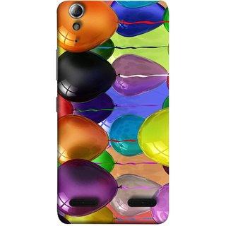 FUSON Designer Back Case Cover For Lenovo A6000 :: Lenovo A6000 Plus :: Lenovo A6000+ (Watercolor Colorful Holiday Sketch Balloons Set )