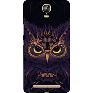 FUSON Designer Back Case Cover For Gionee Marathon M5 Plus (Big Eye Danger Perfect Owl Bird Mysterious)