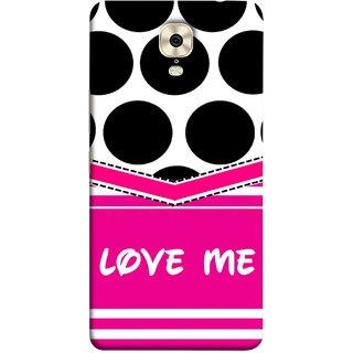 FUSON Designer Back Case Cover For Gionee M6 (Pink Design Paper Big Black Circles Bubbles )