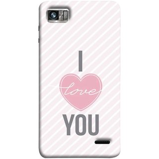 FUSON Designer Back Case Cover For Lenovo K860 :: Lenovo IdeaPhone K860 (Just Pinky Say Always I Love You Red Hearts Couples)