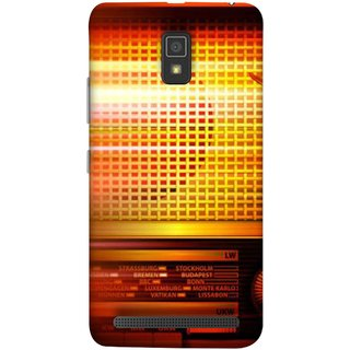 FUSON Designer Back Case Cover For Lenovo A6600 (Blur Music Background With Retro Radio Antique )