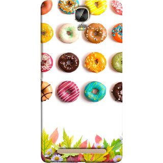 FUSON Designer Back Case Cover For Gionee Marathon M5 Plus (Cute Food Donuts Themes For Parties Soft &Amp)