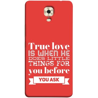FUSON Designer Back Case Cover For Gionee M6 (Ture Love When Before Ask Care Love Hearts)