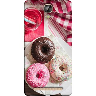 FUSON Designer Back Case Cover For Gionee Marathon M5 Plus (Glazed Donuts Sweet Desserts Party Cold Soft Drink)