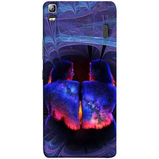 FUSON Designer Back Case Cover For Lenovo K3 Note :: Lenovo A7000 Turbo (Young Beautiful Woman Smiling To Herself In Mirror)