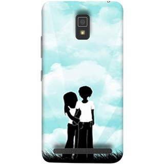 FUSON Designer Back Case Cover For Lenovo A6600 (Boyfriend Girlfriend Together Always Evening Life)