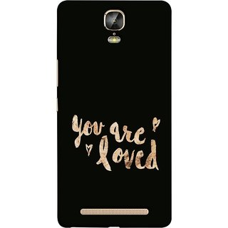 FUSON Designer Back Case Cover For Gionee Marathon M5 Plus (Message Couples All God Love You Family Relatives )