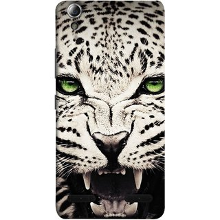 FUSON Designer Back Case Cover For Lenovo A6000 :: Lenovo A6000 Plus :: Lenovo A6000+ (Jungle King Stearing Angry Roaring Loud Aslan Panther)