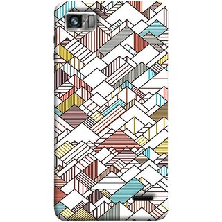 FUSON Designer Back Case Cover For Lenovo K860 :: Lenovo IdeaPhone K860 (Watercolor Horizontal Vertical Vector Lines Colourful)