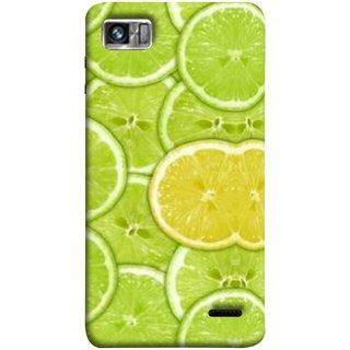 FUSON Designer Back Case Cover For Lenovo K860 :: Lenovo IdeaPhone K860 (Lemon Lime Sweet Agriculture Farm Fresh Cut Cell)