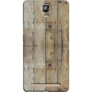 FUSON Designer Back Case Cover For Gionee Marathon M5 Plus (Wooden Back Cover Plates Nails Cracks Joints)