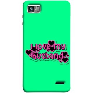 FUSON Designer Back Case Cover For Lenovo K860 :: Lenovo IdeaPhone K860 (Love My Family Husband Hubby Better Half Partner)