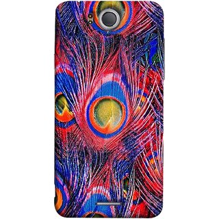 FUSON Designer Back Case Cover For InFocus M530 (Nice Colourful Long Peacock Feathers Beak)