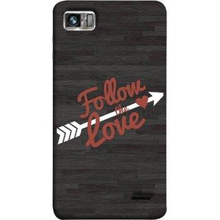 FUSON Designer Back Case Cover For Lenovo K860 :: Lenovo IdeaPhone K860 (Hearts Alone Arrow White Follow Worlds)