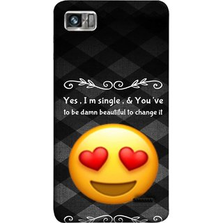 FUSON Designer Back Case Cover For Lenovo K860 :: Lenovo IdeaPhone K860 (Damn Beautiful To Change It Hearts Love Pure Smiley)
