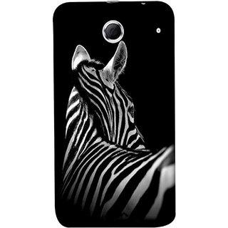 FUSON Designer Back Case Cover For Lenovo K880 (Close Up Portrait Of A Baby Zebra Long Ears Strips Forest)
