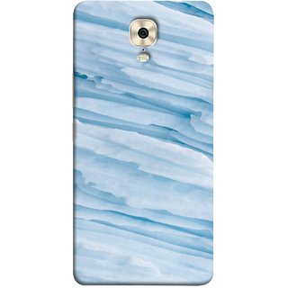 FUSON Designer Back Case Cover For Gionee M6 Plus (Deep Grooves Side Blue Iceberg Floating Antarctic)