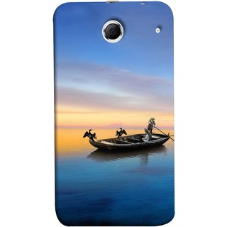 FUSON Designer Back Case Cover For Lenovo K880 (Water Sea Sky Beautiful Boat Cruise Horizon )