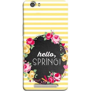 FUSON Designer Back Case Cover For Gionee Marathon M5 Lite (Flowers Cake White And Yellow Horizontal Strips )