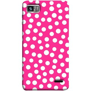 FUSON Designer Back Case Cover For Lenovo K860 :: Lenovo IdeaPhone K860 (Small Bubbles Marbles Circle Pink Board)