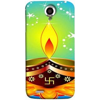 FUSON Designer Back Case Cover For Lenovo S820 (Wallpaper Vector Beautiful Vector Diwali Diya)
