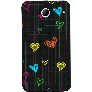 FUSON Designer Back Case Cover For Lenovo K880 (Multicolour Hearts Shapes Shining Shapes Loopable)
