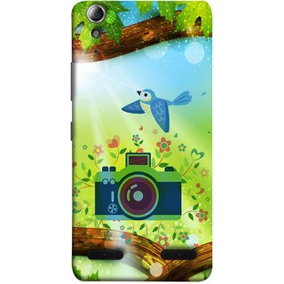 FUSON Designer Back Case Cover For Lenovo A6000 :: Lenovo A6000 Plus :: Lenovo A6000+ (Camera Nature Flowers Blue Sky White Clouds Beautiful )