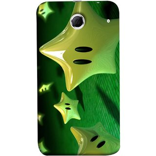 FUSON Designer Back Case Cover For Lenovo K880 (Shy Many Gold Star Cartoon Emoji Emotions In Air )