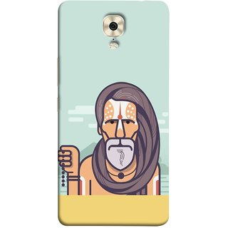 FUSON Designer Back Case Cover For Gionee M6 Plus (Himalaya Sadhu Kumbh Mela Beard Rudraksh Mala)