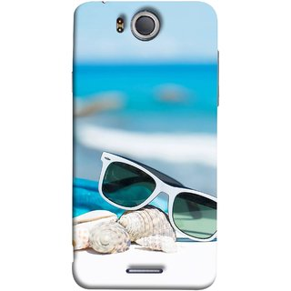 FUSON Designer Back Case Cover For InFocus M530 (Summer Vacation Beach Mobile Wallpaper Blue Sky )