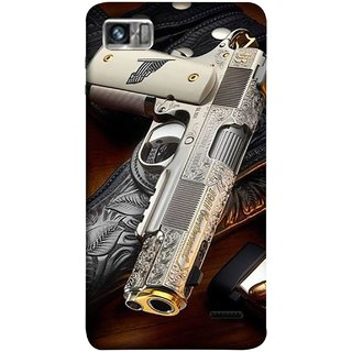 FUSON Designer Back Case Cover For Lenovo K860 :: Lenovo IdeaPhone K860 (Gun Pouch Holder Loading Bullets Killing Murders )