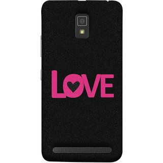 FUSON Designer Back Case Cover For Lenovo A6600 (Love Life Forever Hearts Real Love True Lovers Valentine)