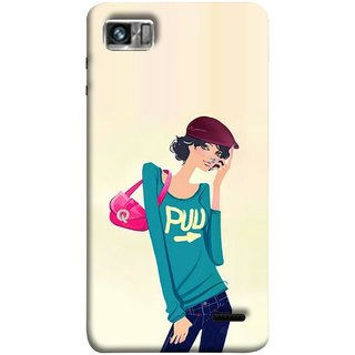 FUSON Designer Back Case Cover For Lenovo K860 :: Lenovo IdeaPhone K860 (Morden Lady Tshirt Jeans Cap Beautiful Girly)